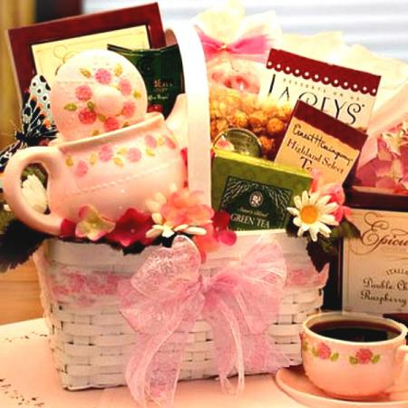 TeaPot Gift Basket Tea Set