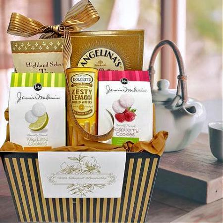 sympathy tea gift basket