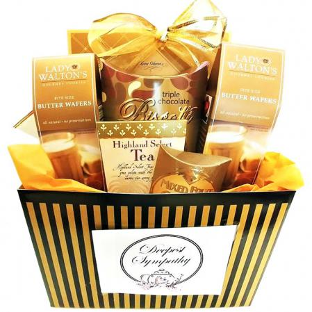sympathy tea gift basket