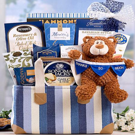 Thanks So Much Gift Basket, Bear Hugs Gift Basket