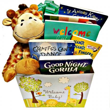wild about baby jungle theme gift basket