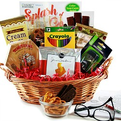 adult coloring book gift baskets
