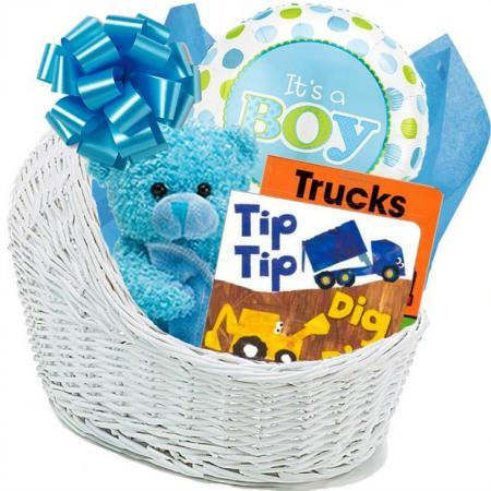 All Boy Baby Gift Basket