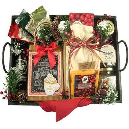 Deluxe Christmas Breakfast Tray