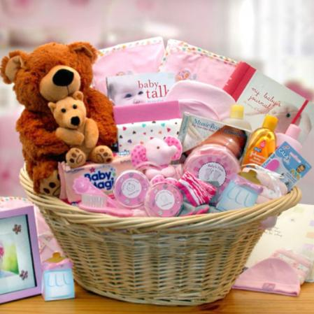 Baby Shower Gift Basket for Baby Girls
