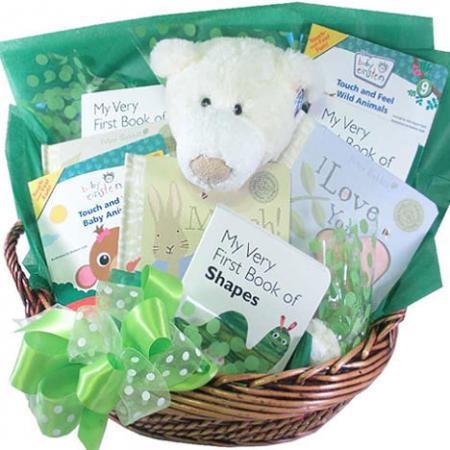 Baby Shower Gift Basket of Books