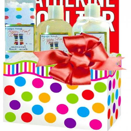 Book and Happy Feet Spa Gift Box