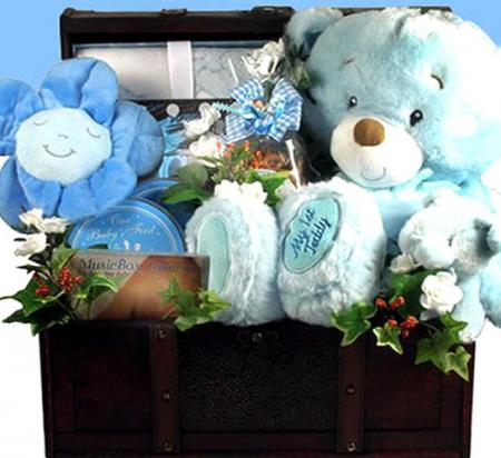Deluxe Baby Boy (or Girl) Gift Trunk