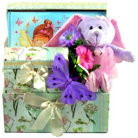 Butterfly Ballerina Gift Basket for Girls