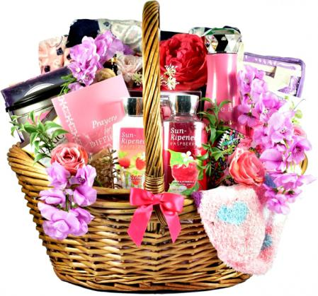 gift basket for breast cancer patient