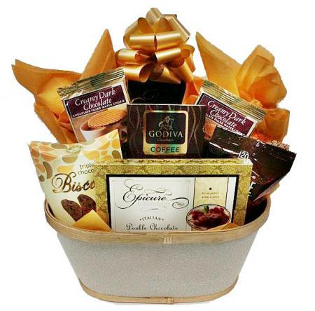 thank you basket chocolate cookies cake
