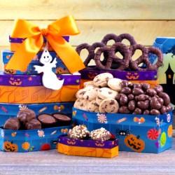 halloween chocolate gift tower