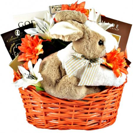 chocolate easter bunny gift basket