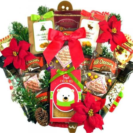 Mrs. Claus Christmas Cookie Basket