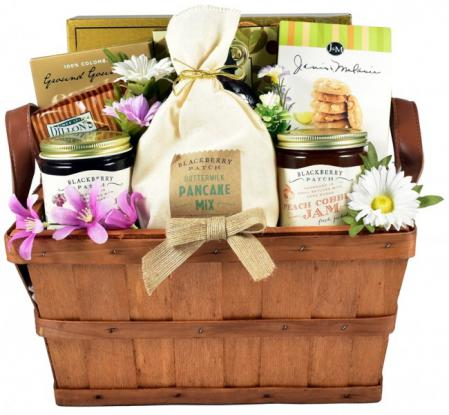 big gourmet breakfast basket