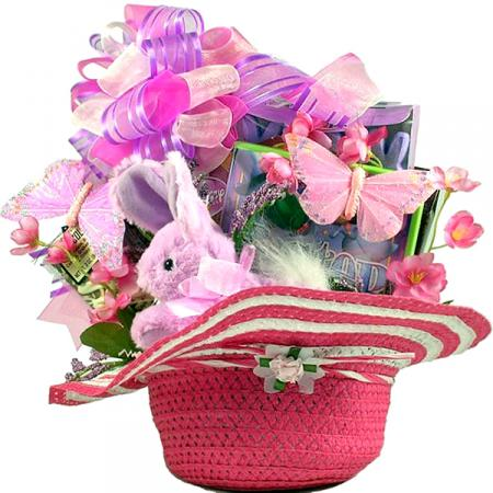Girls Easter Bunny Hat Baskets