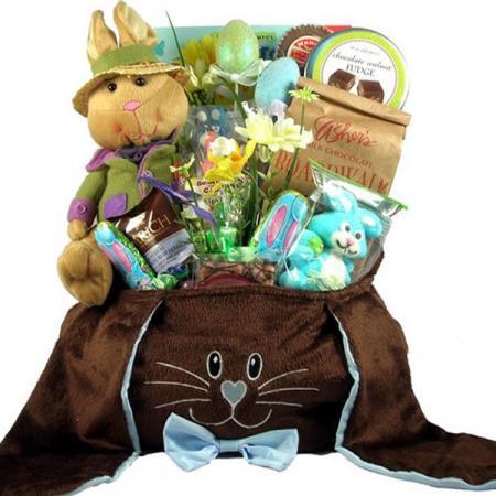 Deluxe Chocolate Easter Bunny Basket