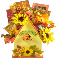 Fall Birdhouse Gift Basket
