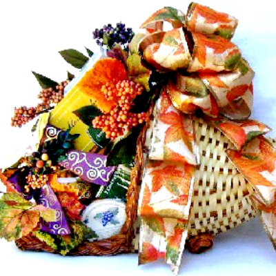 Cornucopia Gift Basket, Fall Gift Baskets, Thanksgiving Gift Idea