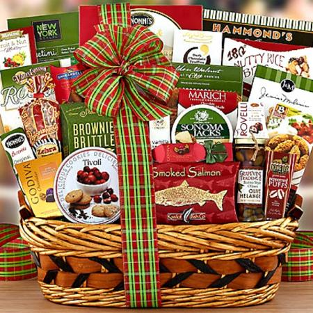 Classic Holiday Gourmet Gift Basket