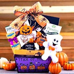 happy halloween ghost gift basket