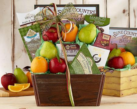 Wholesome Fruit and Gourmet Basket