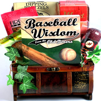 Home Run Treasure Chest Gift Basket