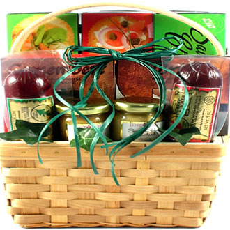 Cheese, Sausage and Snacks, Gift Basket