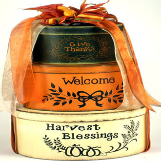 Harvest Blessings, Fall Gift Tower