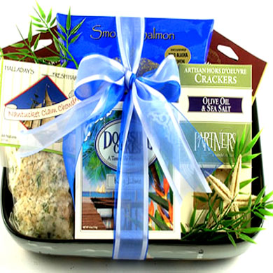 Dockside Snacks, Delicious Seaside Snack  Nautical Themed Gift Basket