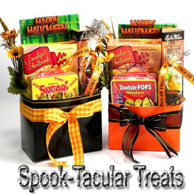 Halloween Spooky Basket.Spook Tacular Halloween Treats