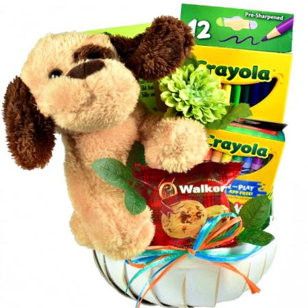 basket of gifts for kids