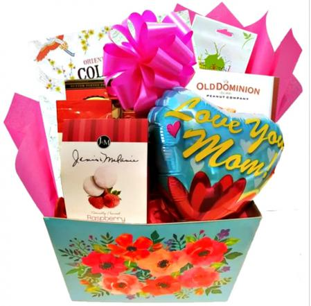 a pretty gift basket for mom