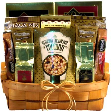 Golden Goodies Gift Basket For Office, Family & Friends