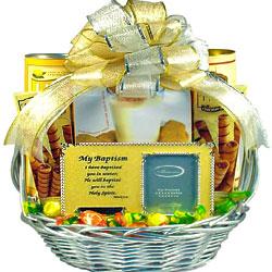 Baptism Celebration Gift Basket