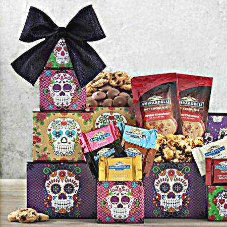 Ghirardelli Day of the Dead Halloween Gift Tower
