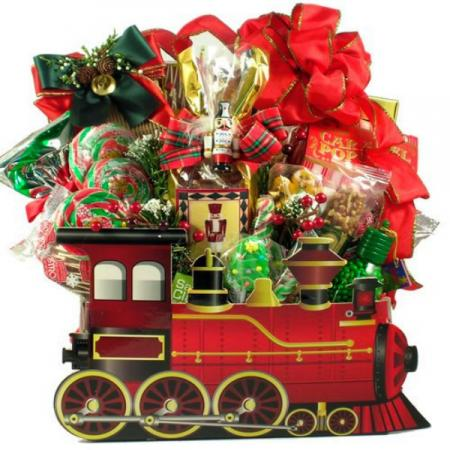 Holiday Express, Christmas Train Gift Basket
