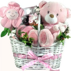 Its A New Baby Girl Baby Basket