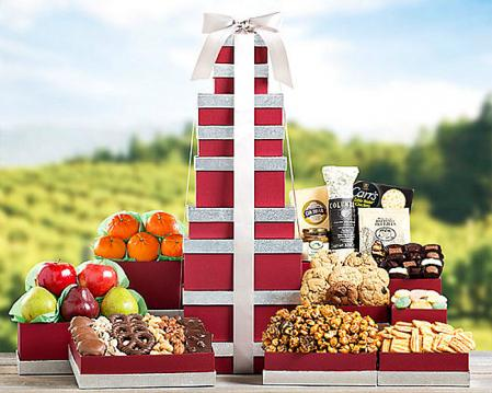 Large Holiday Gift Towers
