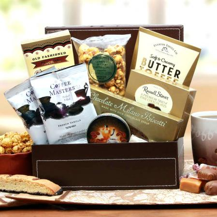 Premium Coffee and Gourmet Gift Box Arrangement