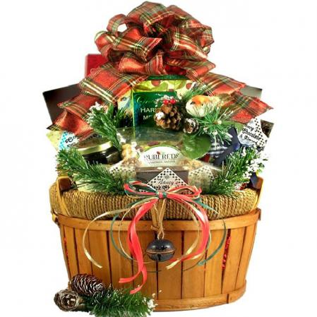 Large Holiday Bounty Gift Basket