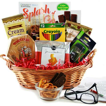Coloring Book Gift Baskets for Adults
