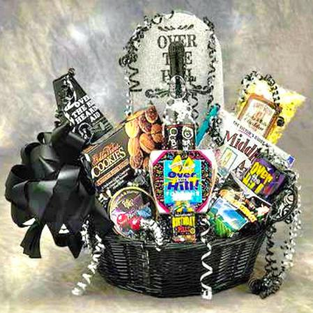Over The Hill Tombstone Gift Basket