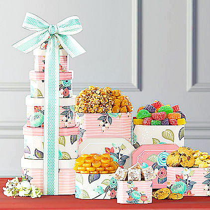 summer gourmet gift tower