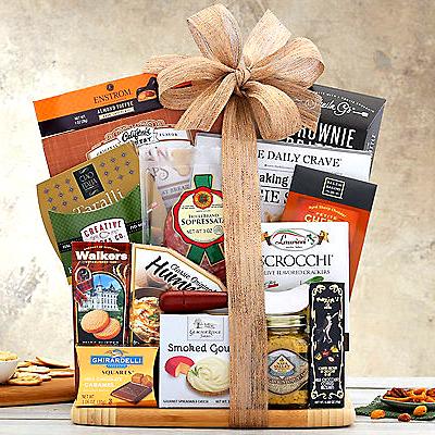 cutting board gourmet food gift set