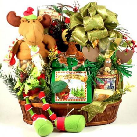 Wally, The Christmas Moose Basket