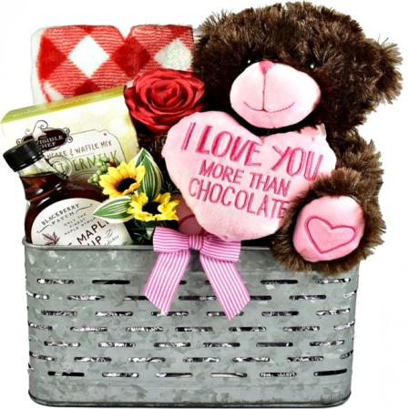 snuggle bear gift basket