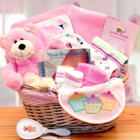 Organic New Baby Girl Gift Baskets