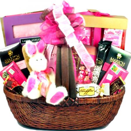 Pretty In Pink Easter Gift Basket