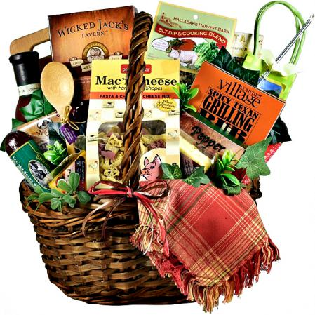 spicy texas grilling bbq gift basket